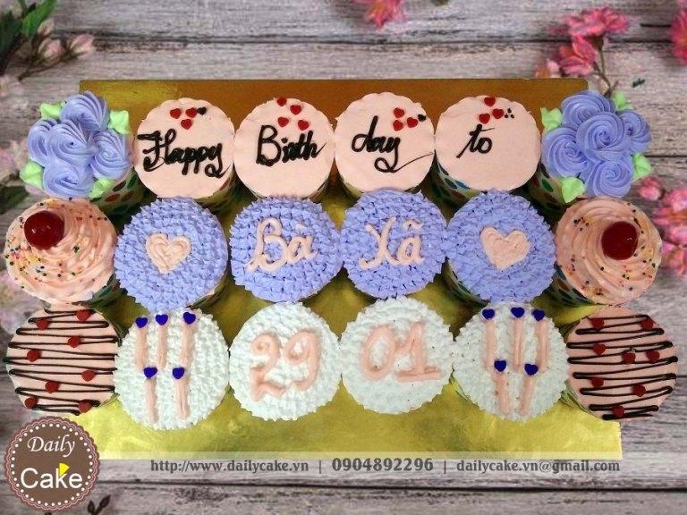 Bánh cupcake sinh nhật – 001