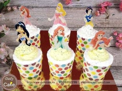 Bánh cupcake sinh nhật công chúa – 001