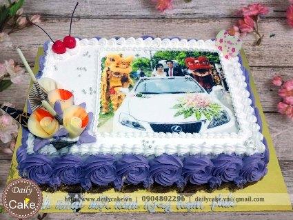 Bánh in ảnh kỷ niệm ngày cưới 001
