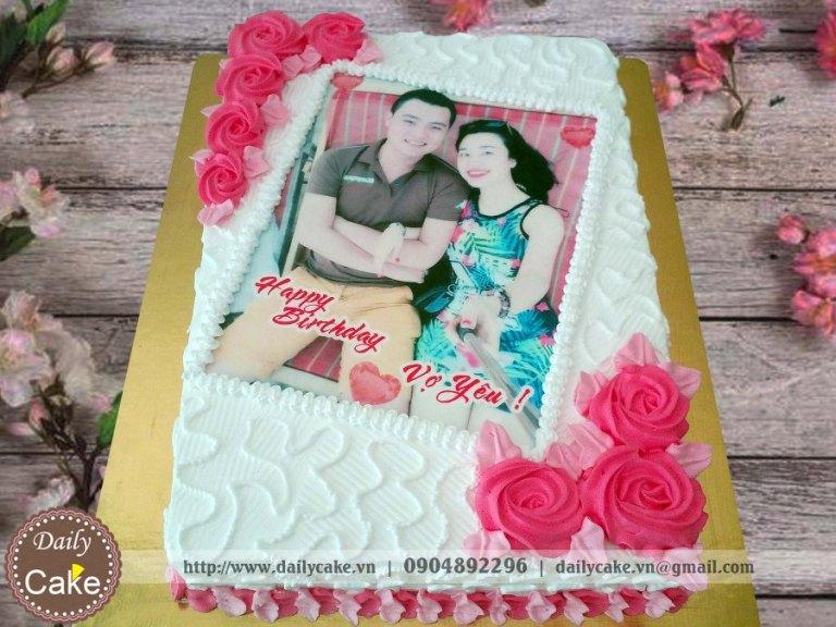Bánh in ảnh sinh nhật vợ yêu 001