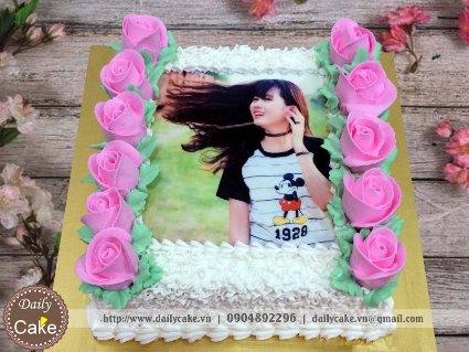 Bánh sinh nhật in ảnh bạn gái 002
