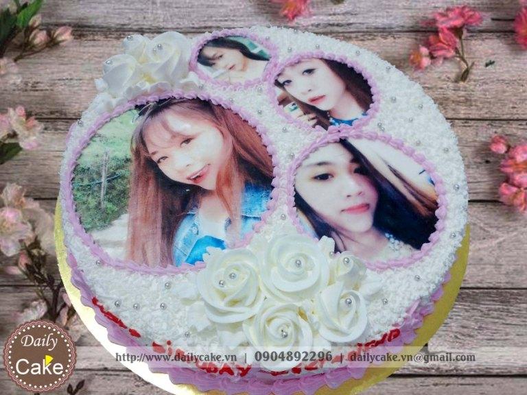 Bánh sinh nhật in ảnh bạn gái 004