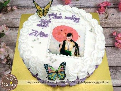Bánh sinh nhật in ảnh bạn gái 012