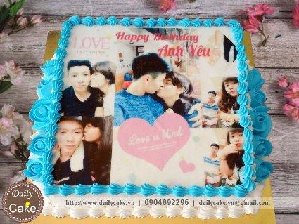 Bánh sinh nhật in ảnh bạn trai 001