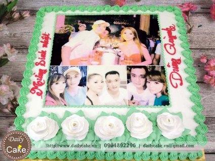 Bánh sinh nhật in ảnh bạn trai 005
