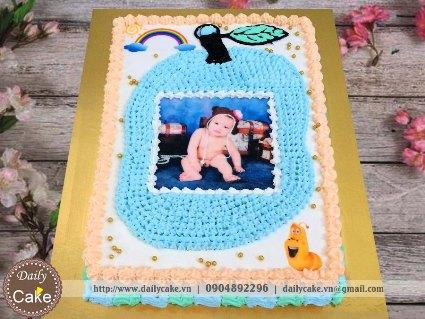 Bánh sinh nhật in ảnh bé trai 001