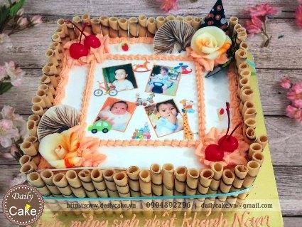 Bánh sinh nhật in ảnh bé trai 002