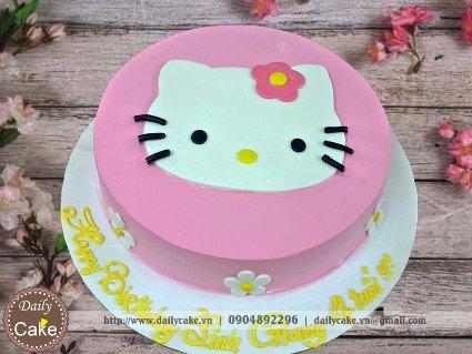 Bánh fondant sinh nhật tạo hình hello kitty 002