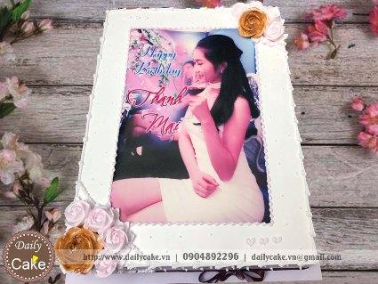 Bánh in ảnh sinh nhật bạn gái 039
