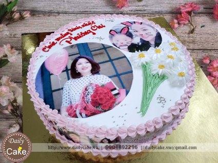 Bánh in ảnh sinh nhật bạn gái 040