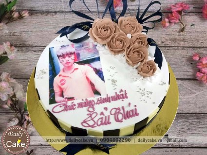 Bánh in ảnh sinh nhật bạn trai 024