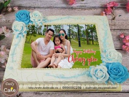 Bánh in ảnh sinh nhật chồng yêu 002