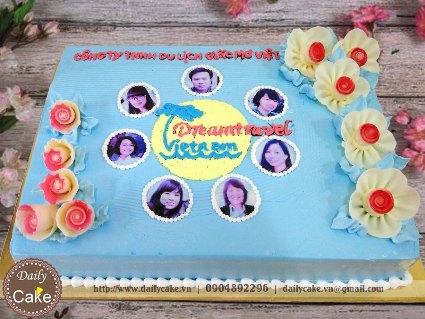 Bánh in ảnh sinh nhật tập thể nhân viên công ty 001