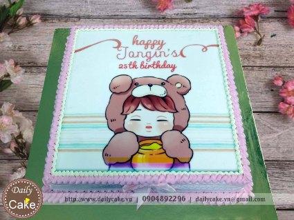 Bánh in hình sinh nhật thần tượng Jongin