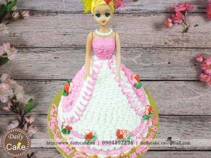 Bánh sinh nhật búp bê barbie 007