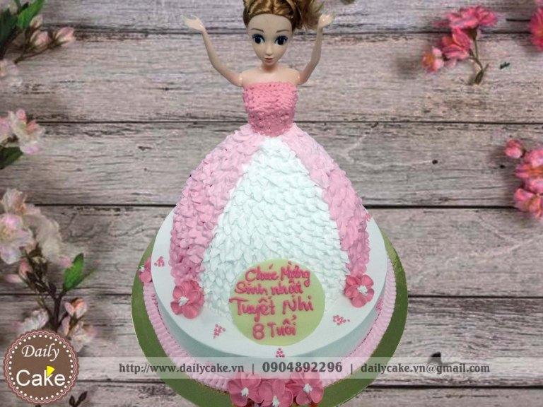 Bánh sinh nhật búp bê barbie 010