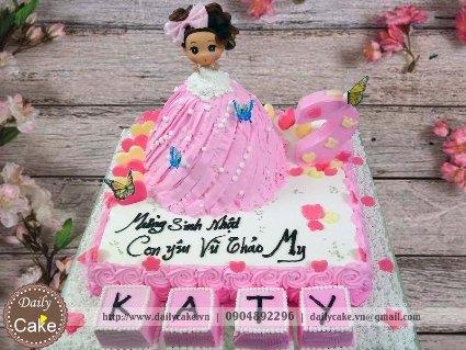 Bánh sinh nhật búp bê chibi 002