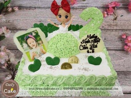 Bánh sinh nhật búp bê chibi 003