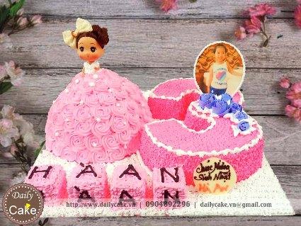 Bánh sinh nhật búp bê chibi 004