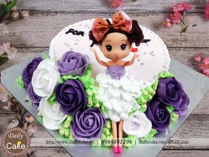 Bánh sinh nhật búp bê chibi 014