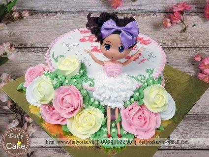 Bánh sinh nhật búp bê chibi 015