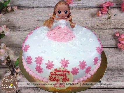 Bánh sinh nhật búp bê chibi 020