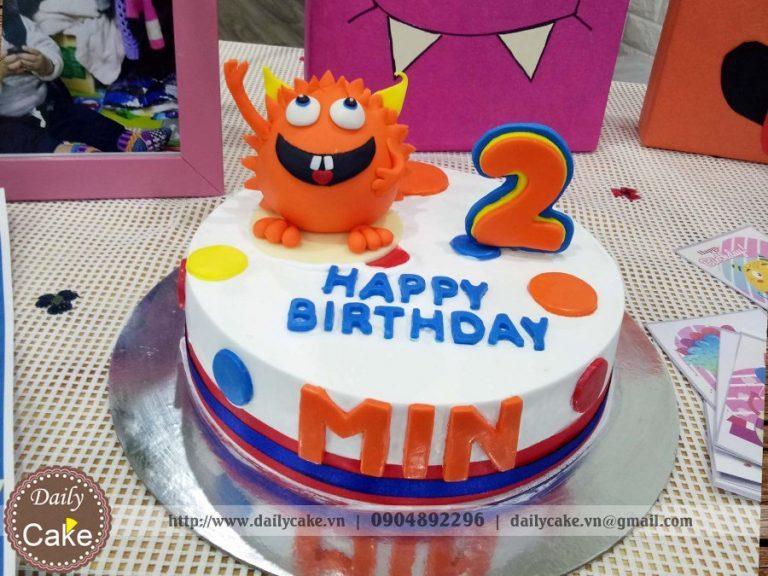 Bánh sinh nhật fondant hình monster