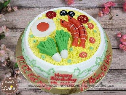 Bánh sinh nhật fondant hình tô mỳ tôm cực hấp dẫn