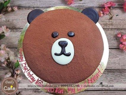 Bánh sinh nhật hình gấu 003