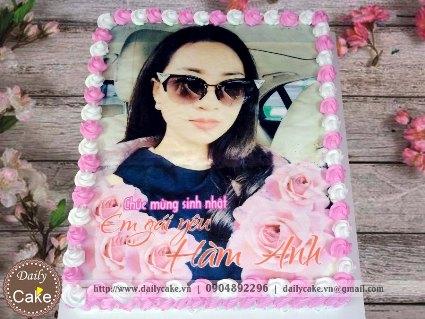Bánh sinh nhật in ảnh bạn gái 015