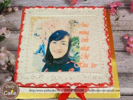 Bánh sinh nhật in ảnh bạn gái 016