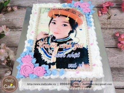 Bánh sinh nhật in ảnh bạn gái 021