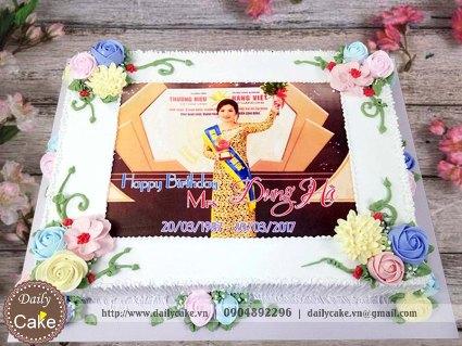 Bánh sinh nhật in ảnh bạn gái 025