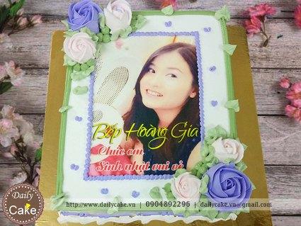 Bánh sinh nhật in ảnh bạn gái 026