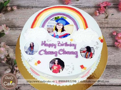 Bánh sinh nhật in ảnh bạn gái 028