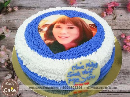 Bánh sinh nhật in ảnh bạn gái 033