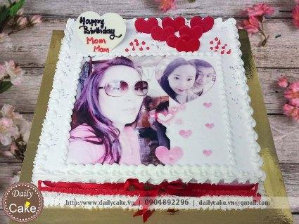 Bánh sinh nhật in ảnh bạn gái 035