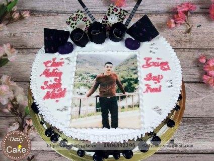 Bánh sinh nhật in ảnh bạn trai 009