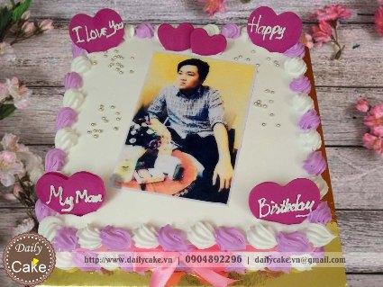 Bánh sinh nhật in ảnh bạn trai 013