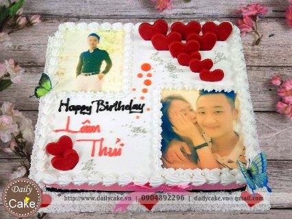 Bánh sinh nhật in ảnh bạn trai 015