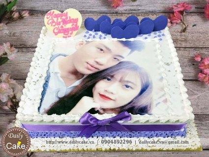 Bánh sinh nhật in ảnh bạn trai 021
