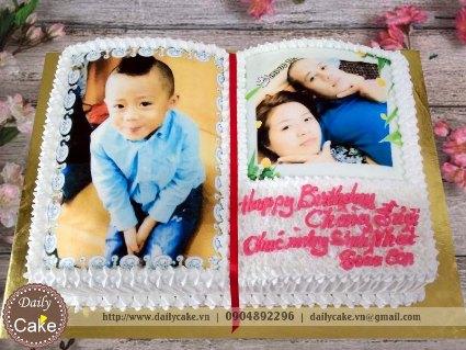 Bánh sinh nhật in ảnh bé trai 003