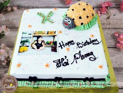 Bánh sinh nhật in ảnh bé trai 008